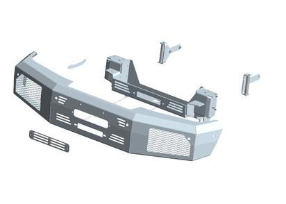 Seilwindenstoßstange Mercedes G350 & G500 16-18, ohne Seilwinde
