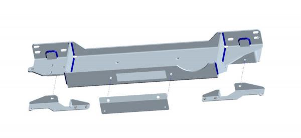 Seilwindenanbausatz Toyota J15 15-18 inkl. WARN ZEON 10