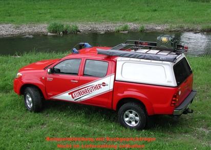 Basic Hardtop für Toyota Hilux 05-16 Doka flach, seitl. geschlossen