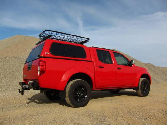 Standard Hardtop für Nissan Navara D40 ab 05 Doka flach Schiebefenster