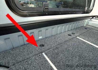 Abdeckung Outback Schublade vorne Mercedes X-Klasse, Doppelkabine