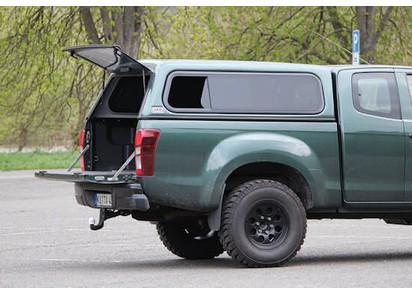 Standard Hardtop für Isuzu D-Max X-Cab, 06/12-> flach seitl. Schiebefenster