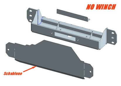 Windenanbausatz Iveco Daily-Scam 4x4 2014-2018, ohne Seilwinde