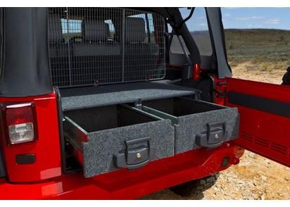 Montagekit Outback Schublade Jeep Wrangler JK -14, 4-trg, ohne Subwoofer