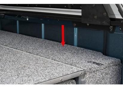 Abdeckung Outback Schublade seitlich Nissan Navara D23 NP300 Doppelk., 15->