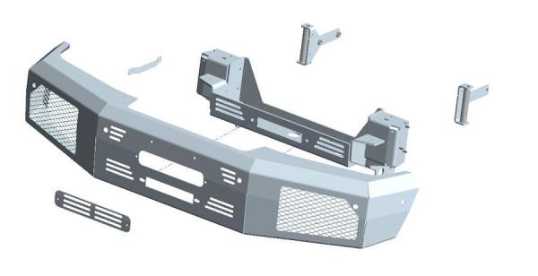 Seilwindenstoßstange Mercedes G350 & G500 16-18, inkl. ZEON 10 PLATINUM