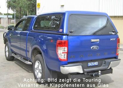 Basic Hardtop für Ford Ranger 12-> 2AB EC flach, glatt, seitl. geschlossen