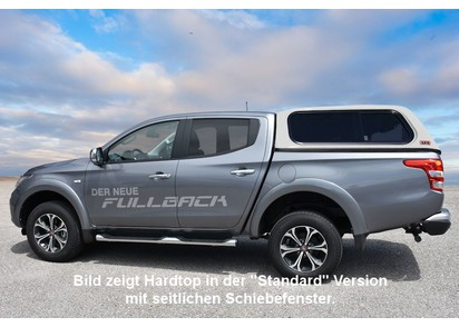 Commercial Hardtop für Fiat Fullback ab 15 Doka flach seitl. Aluklappen