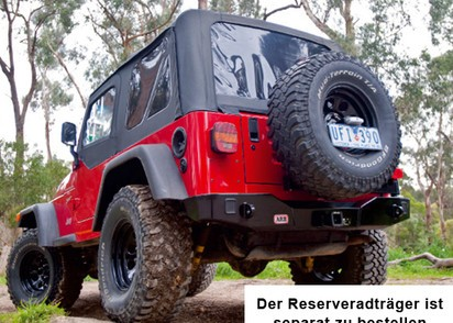 ARB Heckstoßstange Jeep Wrangler YJ/TJ mit Res.radhalter 2-5750300 kombinierbar