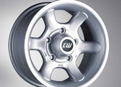 CW-Alufelge silber 8x16, ET+5,5x165,1 Defender, Disco I, Range Rover