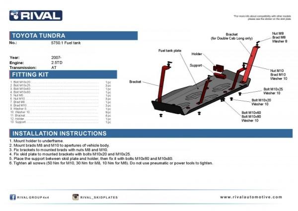Fuel Tank Toyota Tundra 5,7 Skidplate