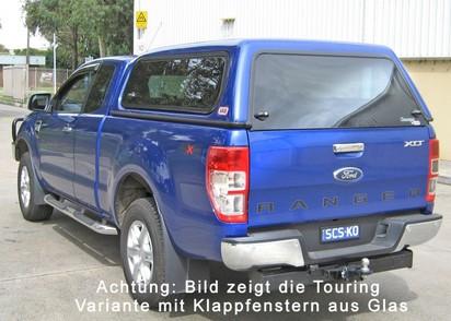 Standard Hardtop für Ford Ranger 12-> 2AB EC flach, glatt, seitl. Schiebefen.