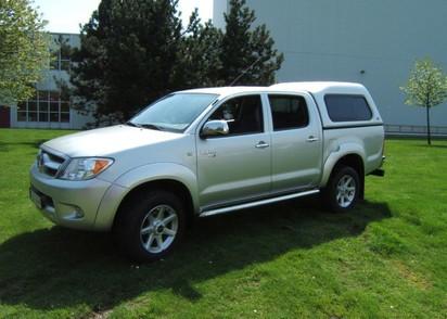 Standard Hardtop für Toyota Hilux 05-1 Doka hoch mit Schiebefenster