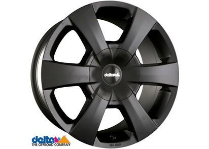 Alufelge Delta WP 8x17 6x114,3 Et +40, schwarz