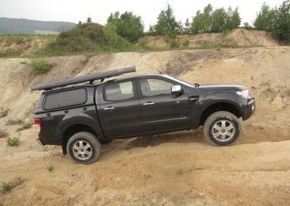 Touring Hardtop für Ford Ranger 12-> 2AB DC flach, glatt, seitl. Klappfenster