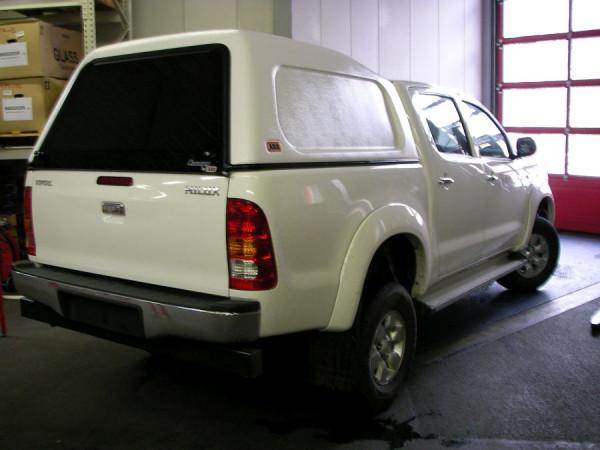 Basic Hardtop für Toyota Hilux 05-16 Doka hoch, seitl. geschlossen